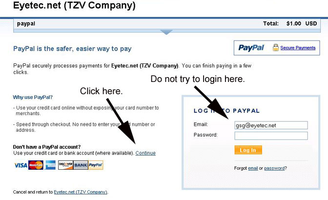 How to make a payment without a Paypal account